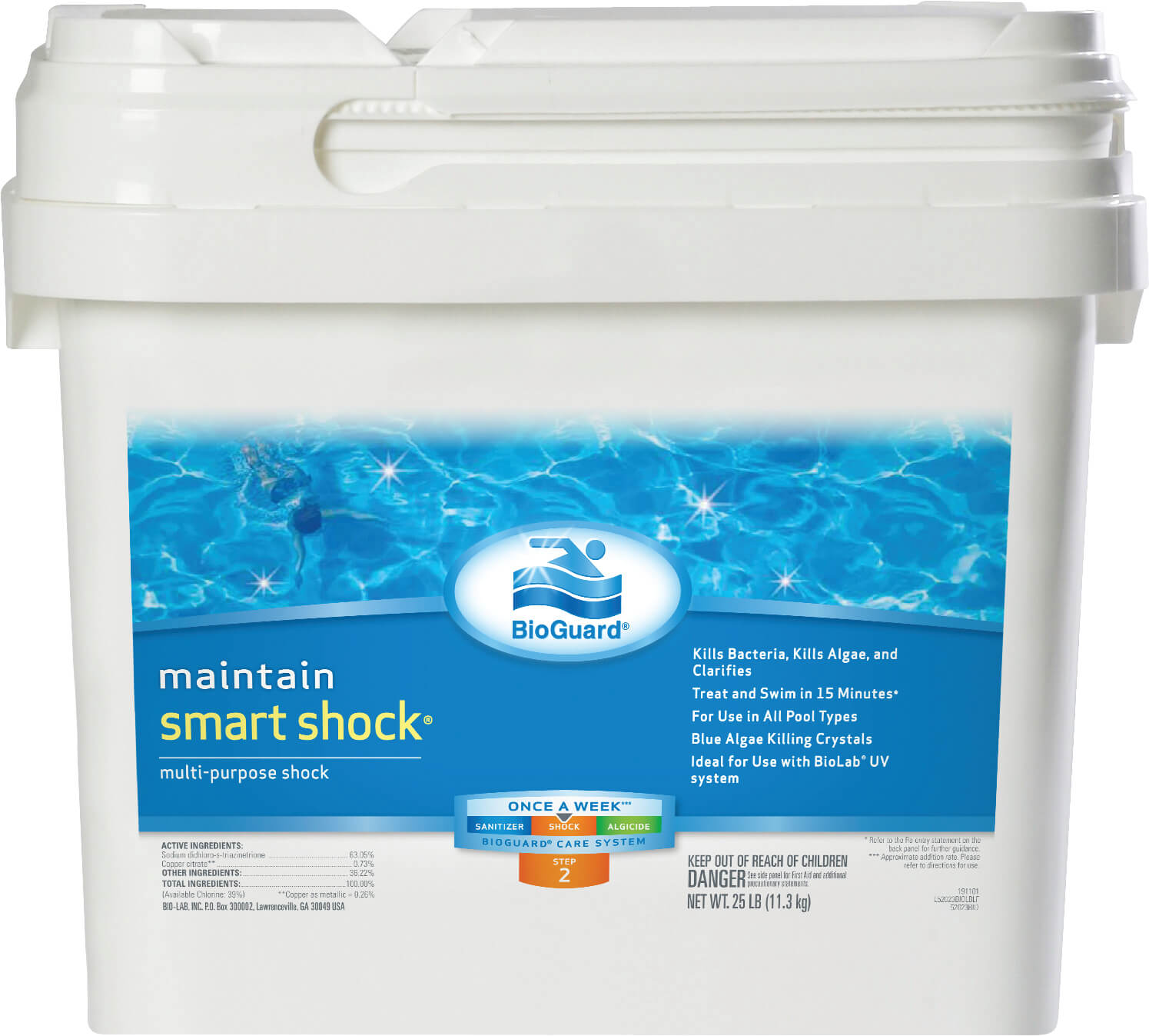 Smart Shock 25lb Bucket Matley Swimming Pools And Spas