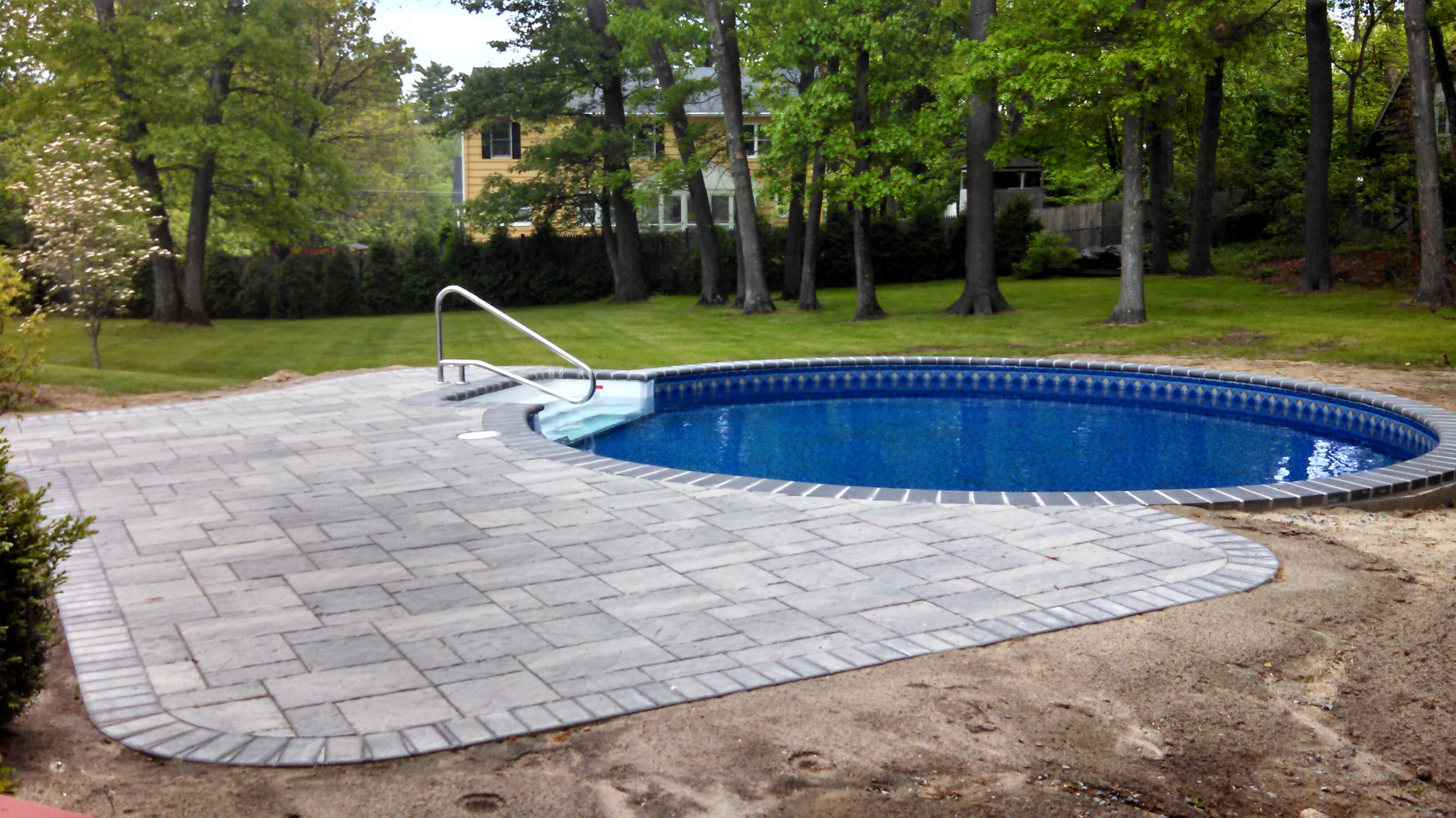 Swimming pools matley swimming pools and spas for Inground swimming pool installation