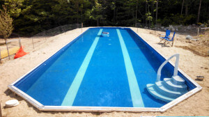 New Ipswich NH Lap Pool Installation