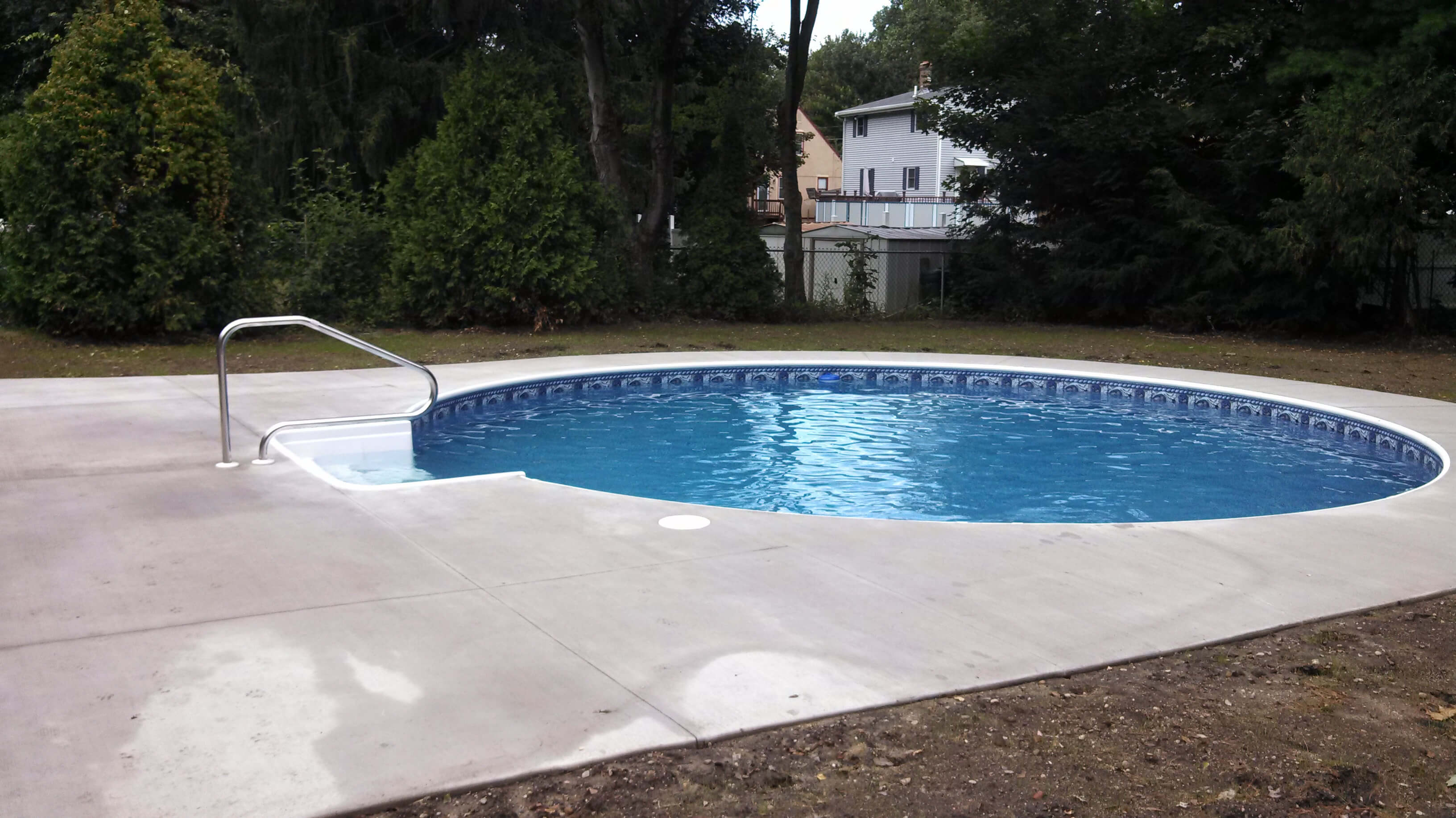 Leominster ma inground swimming pool matley swimming for Inground swimming pool installation