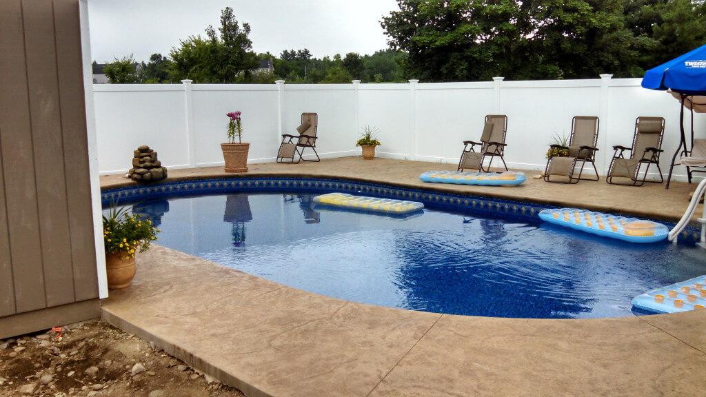 Groton Ma Oval Inground Swimming Pool Matley Swimming