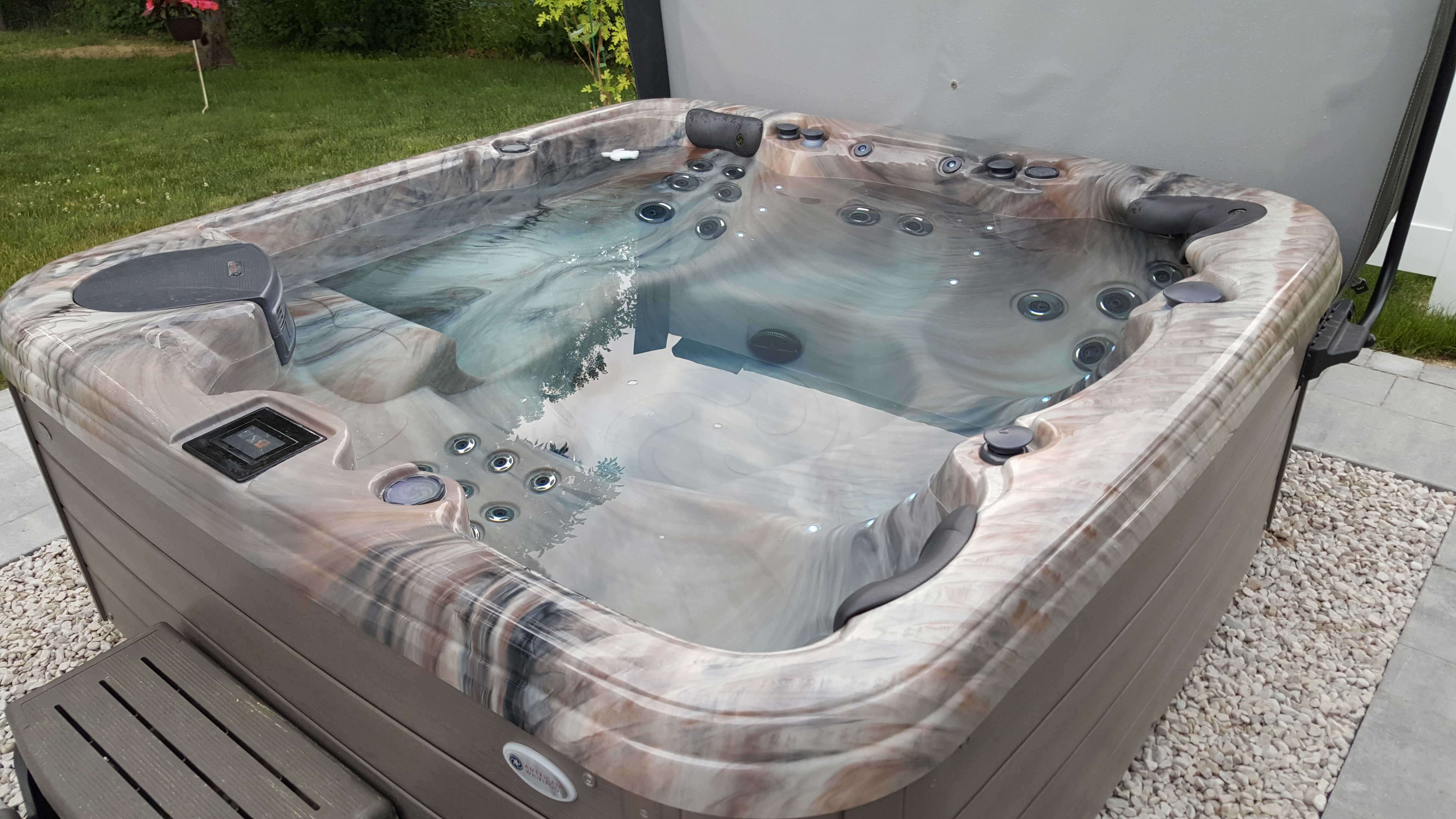Backyard Living Space Hot Tub Nashua NH